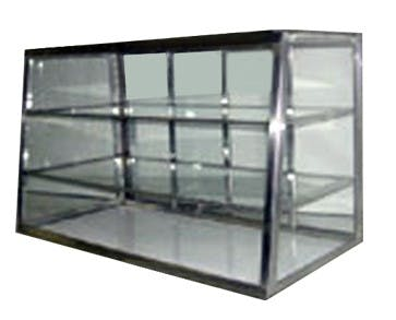 "Carib 5T - 3 Compartment Tapered Front Display Case 12"" x 36"" Food display case sold by Elite Restaurant Equipment"