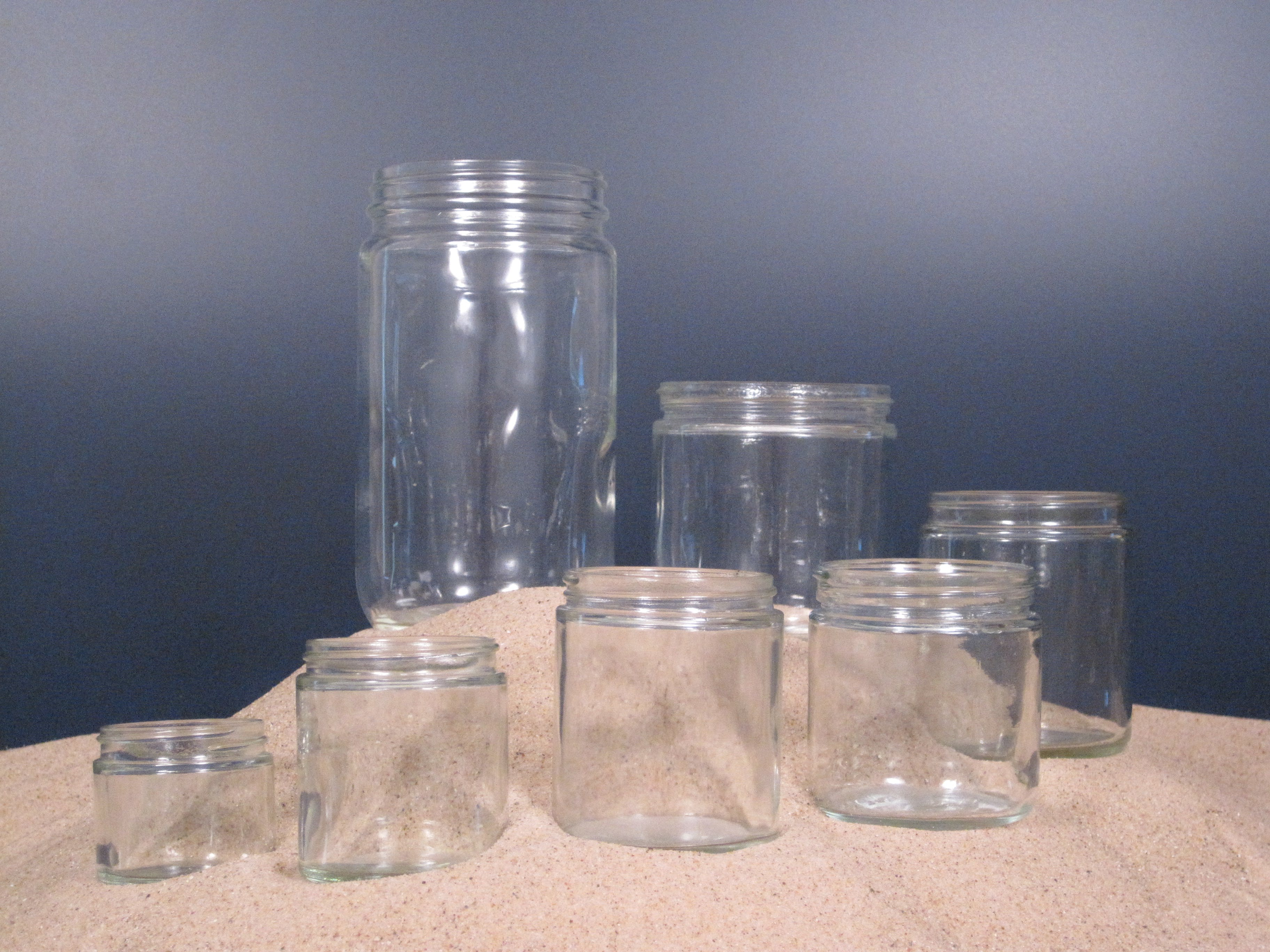 Glass Straight Sided Jars Glass Jar sold by Land & Sea Packaging