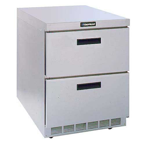 "Delfield - D4432N 32"" Worktop Refrigerator w/ Drawers Commercial refrigerator sold by Food Service Warehouse"
