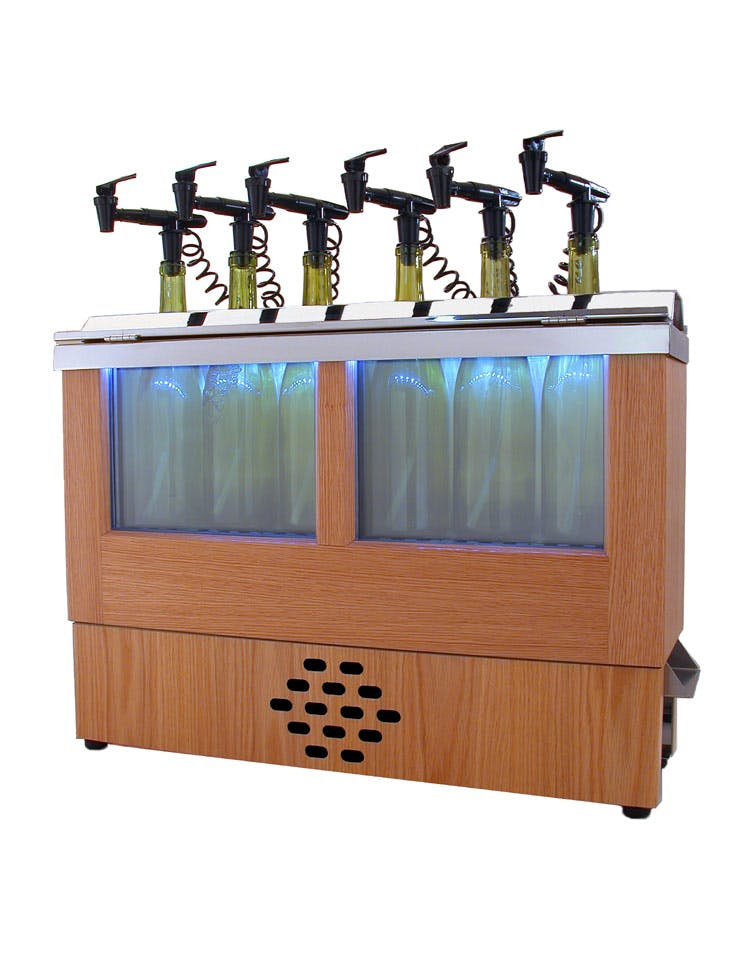 Refrigerated cabinets Wine pub system sold by NitroTap Ltd.