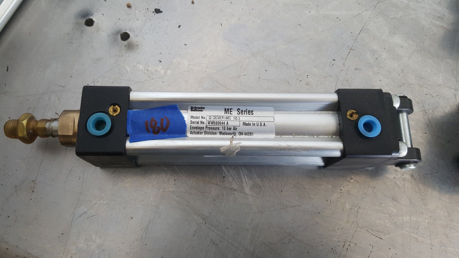 Schrader Bellows ME 32 CBCMER14MC 100.000 10 Bar Air Pneumatic Cylinder - sold by Jak's Restaurant Supply
