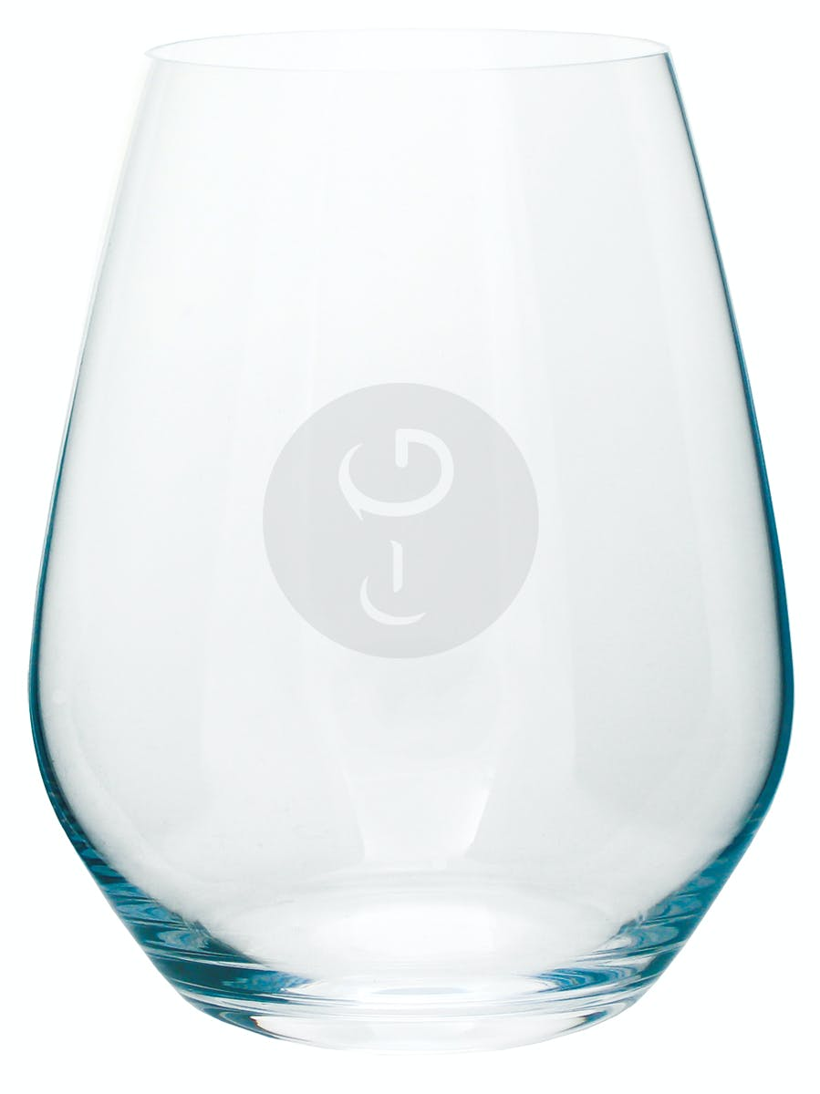 Vintage Stemless Wine glass sold by Glass Tech