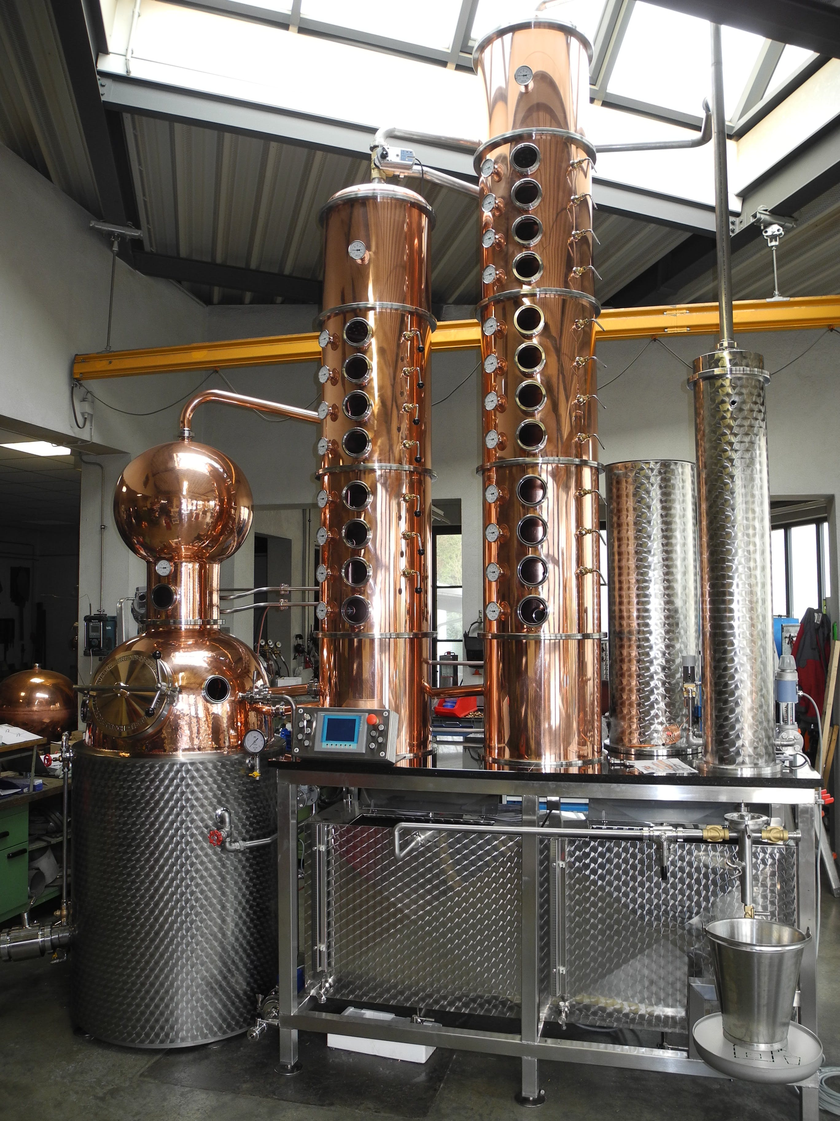 500-18 Distillation still sold by Mueller Pot Stills Inc