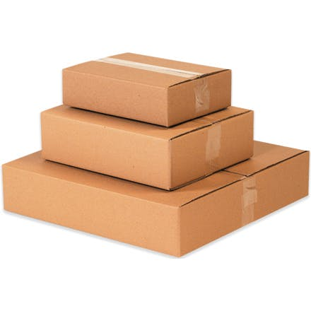 Flat Kraft Boxes Kraft packaging sold by Ameripak, Inc.