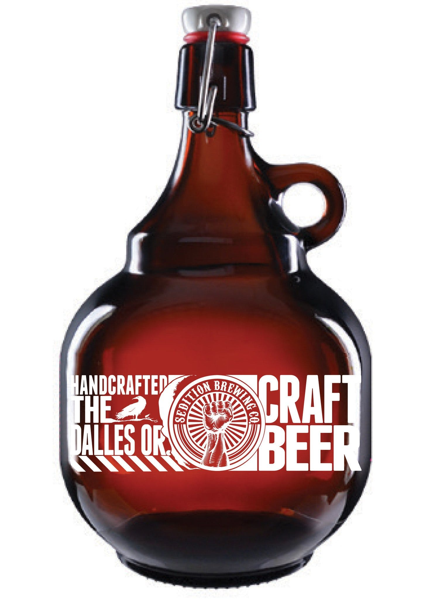 Palla Growler, 2 Liter Amber - sold by Clearwater Gear