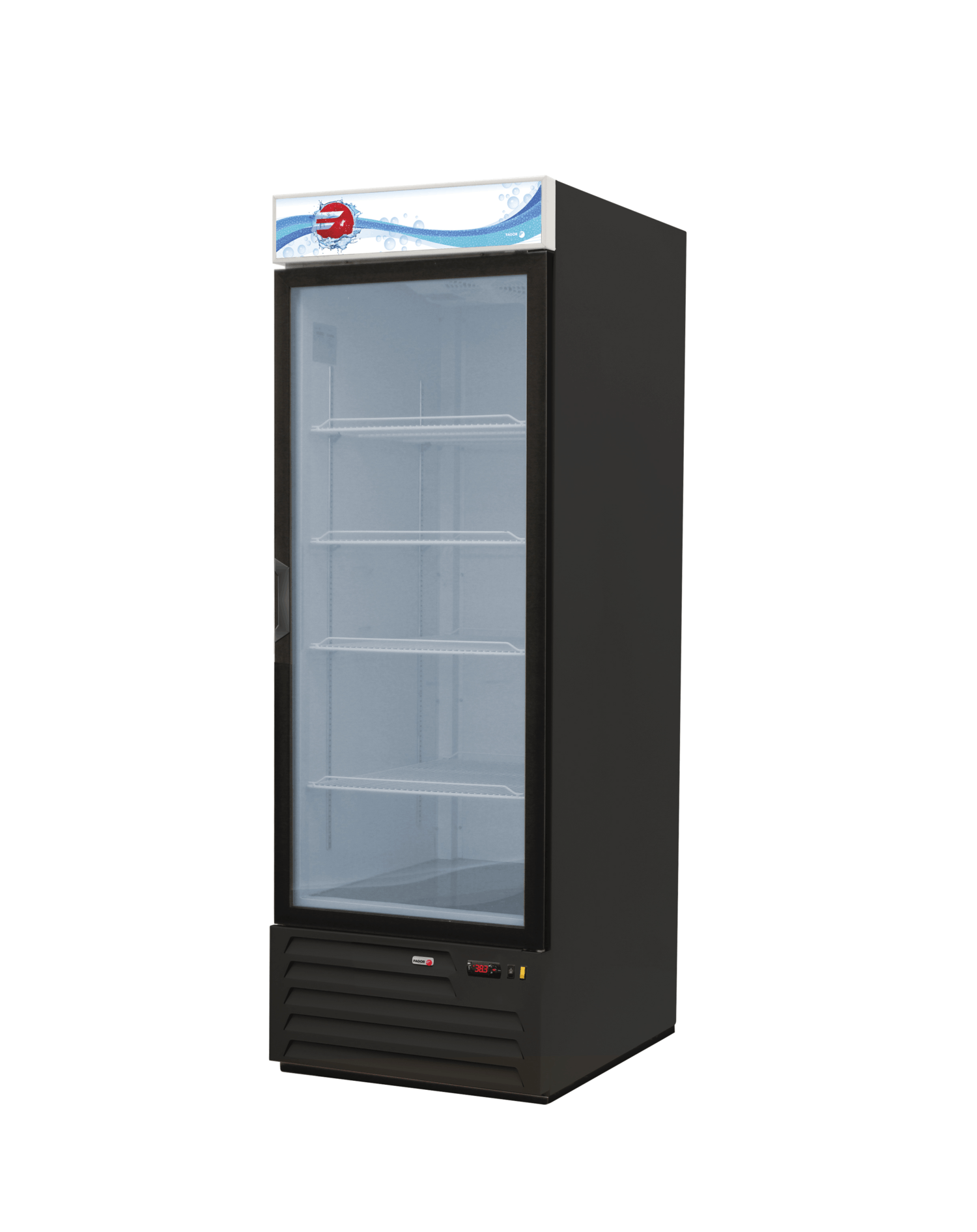 Single glass door refrigerator fagor 23 cu ft fmd 23 for 1 door chiller