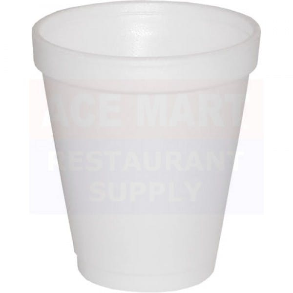 8 oz. White Disposable Foam Small Drink Cup