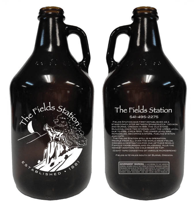 64oz Amber Growler - sold by Cascade Graphics