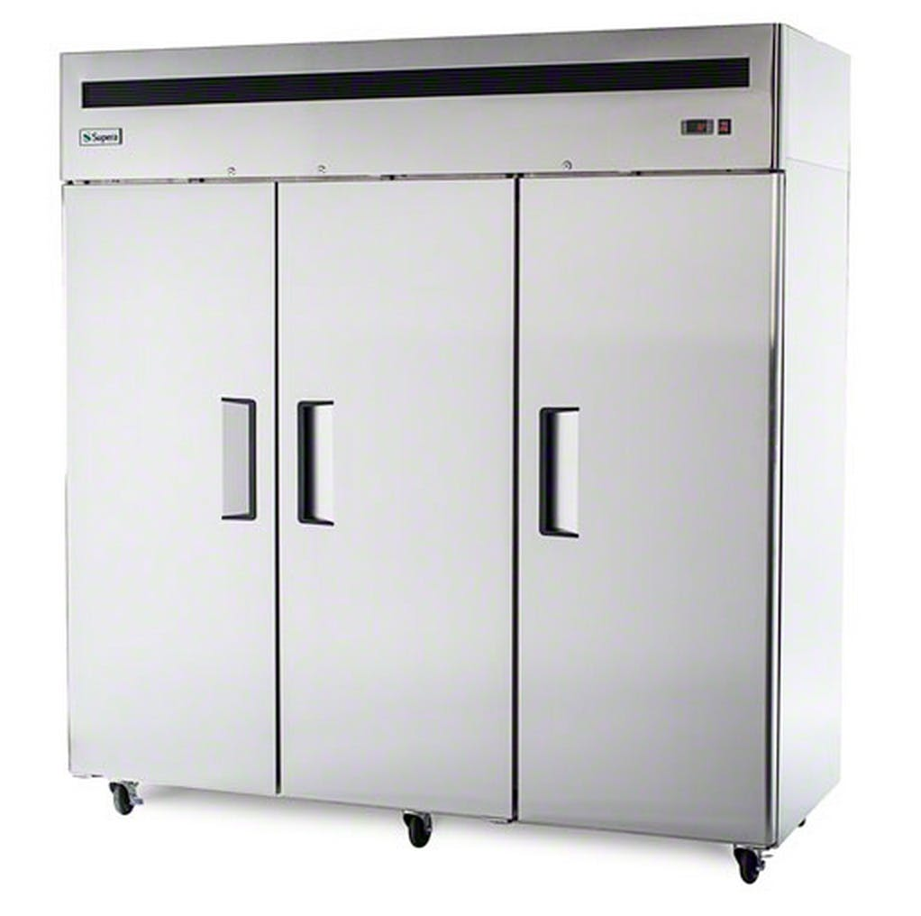 "Supera (R3R-1) - 78"" Solid Door Reach-In Refrigerator Commercial refrigerator sold by Food Service Warehouse"