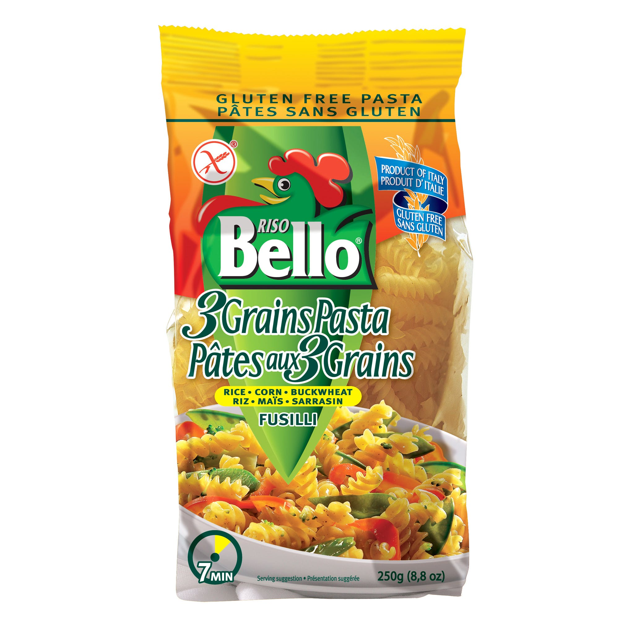 Gluten Free 3 Grain Fusilli Pasta sold by M5 Corporation