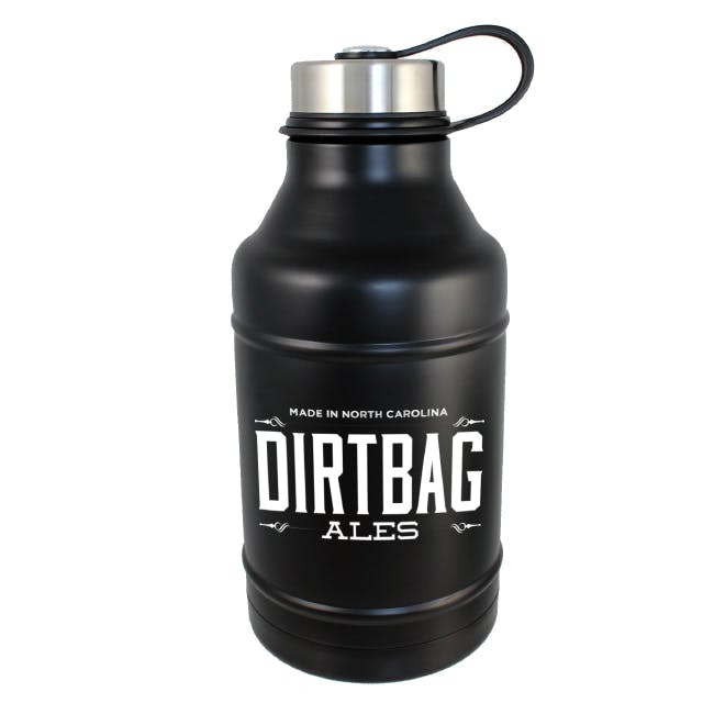 DWG64-MB Double Wall Vacuum Insulated Matte Black 64oz Growler Growler sold by Branded Brewsky