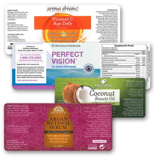 Beauty Products Labels Bottle label sold by Worldwide Ticket and Label