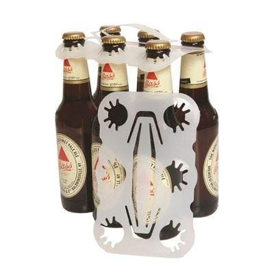 6 Pack Plastic Bottle Carriers Bottle carrier sold by Pak-it Products