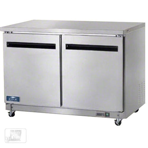 "Arctic Air ( AUC48F ) - 48-1/4"" Two Door Undercounter Worktop Freezer Commercial freezer sold by Food Service Warehouse"
