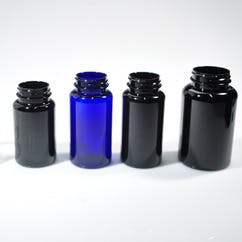 150 cc Blue Wide Mouth Round PET Packer Bottle (#112016) - sold by Berlin Packaging