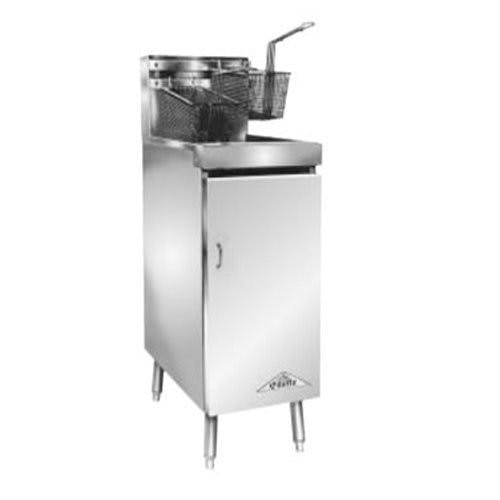 "Comstock Castle | 10HF 11"" Heavy Duty Tube-Style Floor Fryer (60K BTU) Commercial fryer sold by Mission Restaurant Supply"