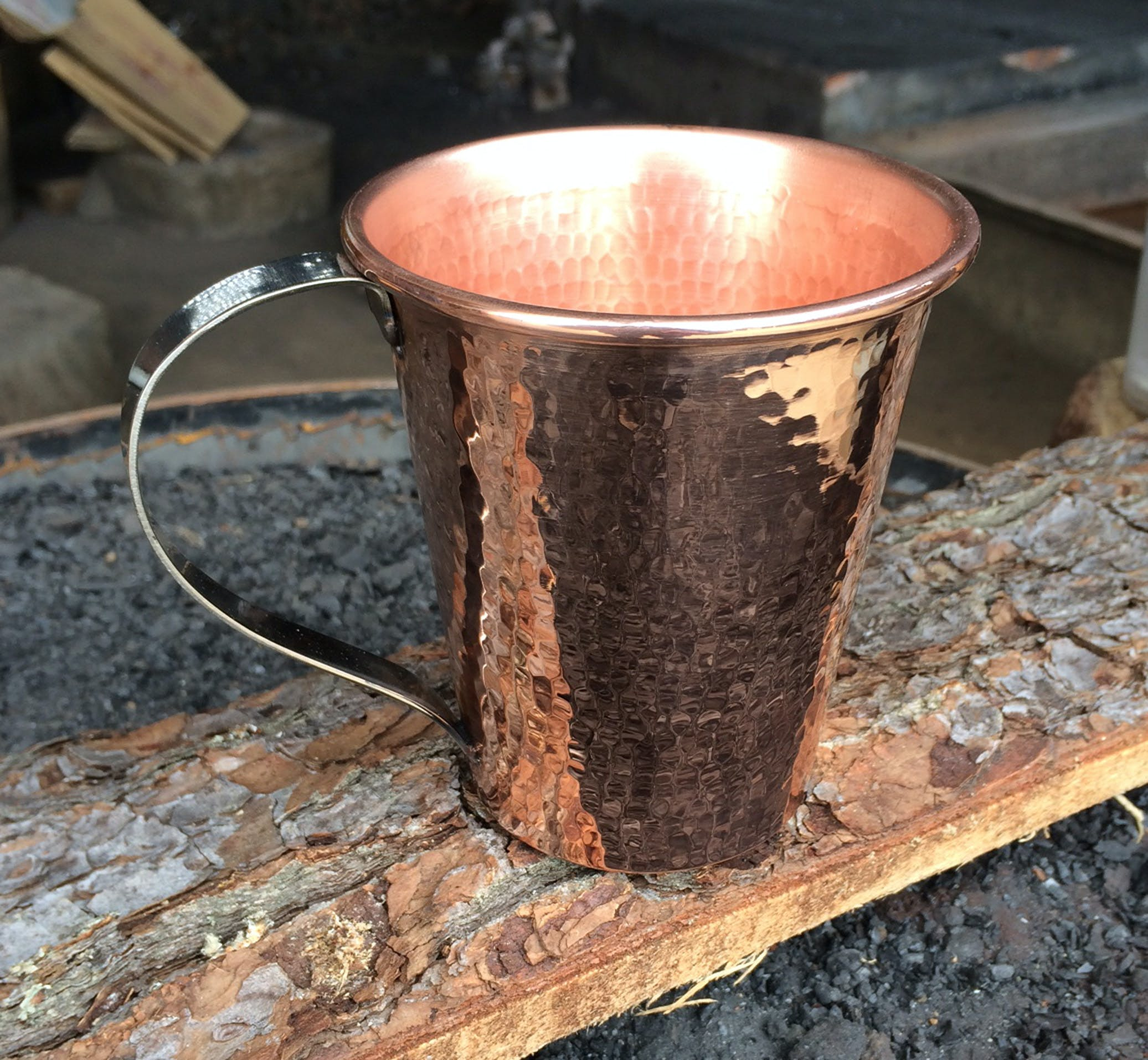 Moscow Mule Mugs - 100% pure copper Copper mug sold by Hammered Mules