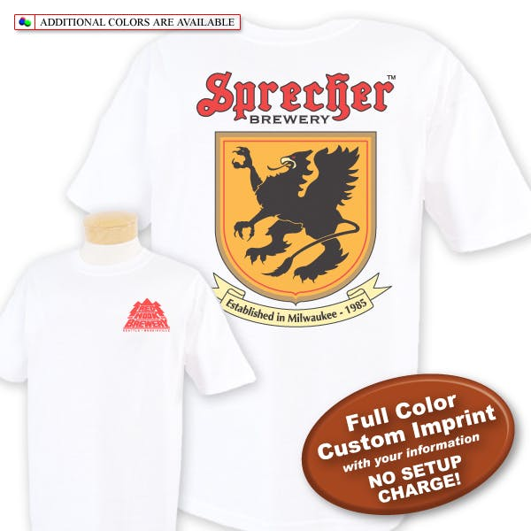 Heavyweight Tee (SS) - Full Color Imprint Promotional shirt sold by MicrobrewMarketing.com