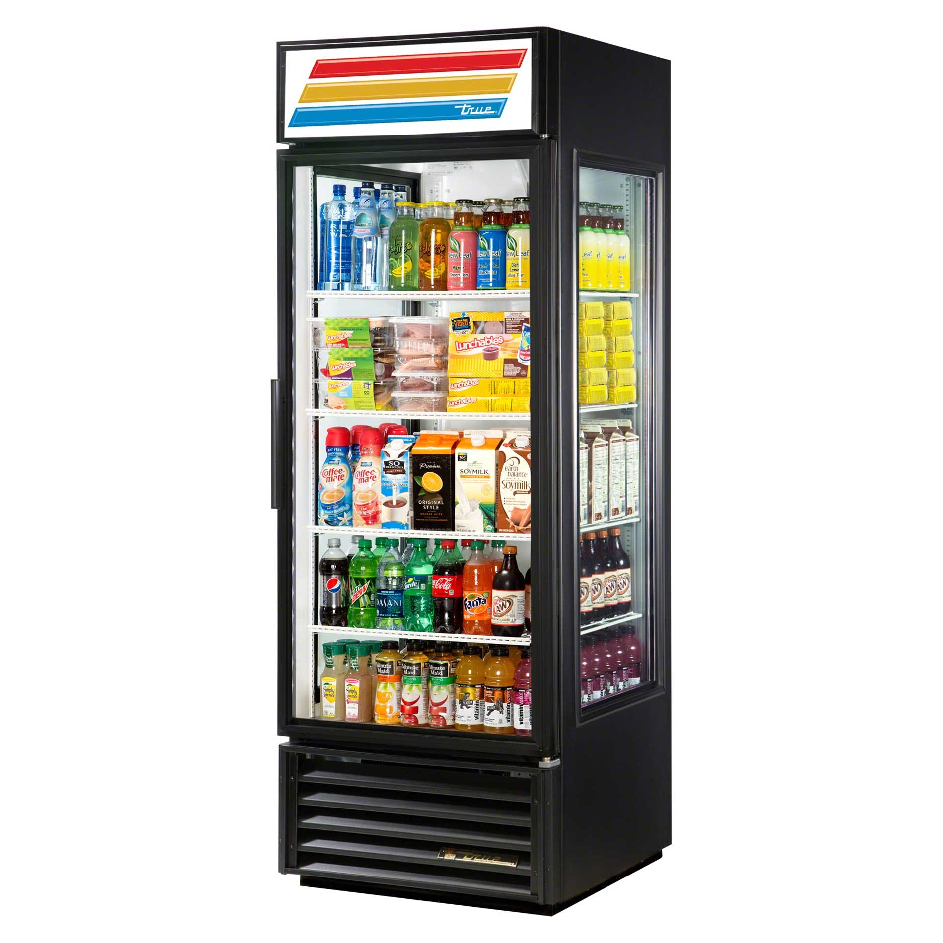 "True - GEM-23-LD 27"" Glass End Merchandiser Refrigerator LED Commercial refrigerator sold by Food Service Warehouse"
