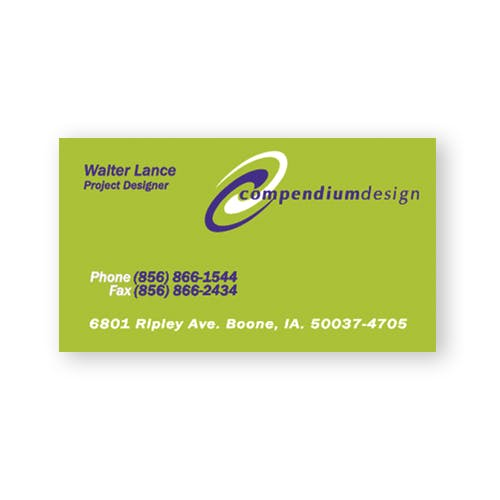 Business Card (Item # UEKHO-DDRUZ) Promotional Paper Product sold by InkEasy