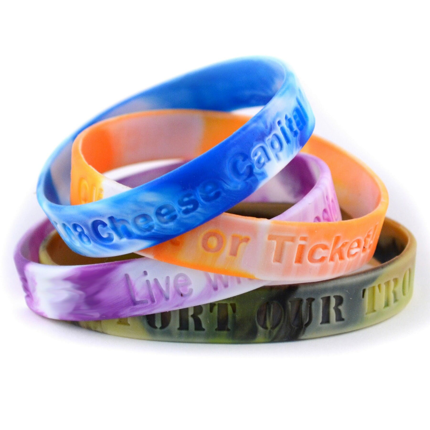 Silicone Wristband (Item # PIFQS-FZKCP) Promotional wristband sold by InkEasy
