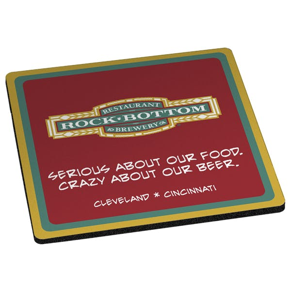 "Square Coaster - Retail Quality 1/8"" Thick Drink coaster sold by MicrobrewMarketing.com"