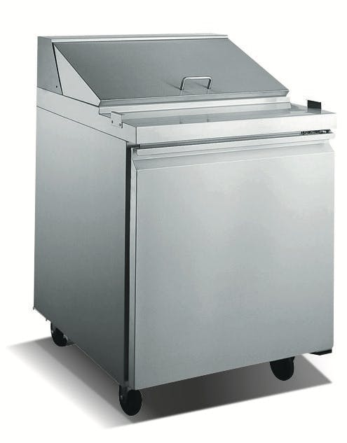"27.5"" Small Refrigerated Prep Table"