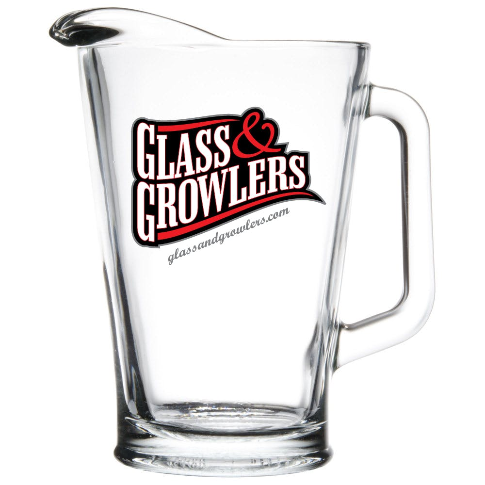 Glass Pitcher 60 oz Beer pitcher sold by Glass and Growlers