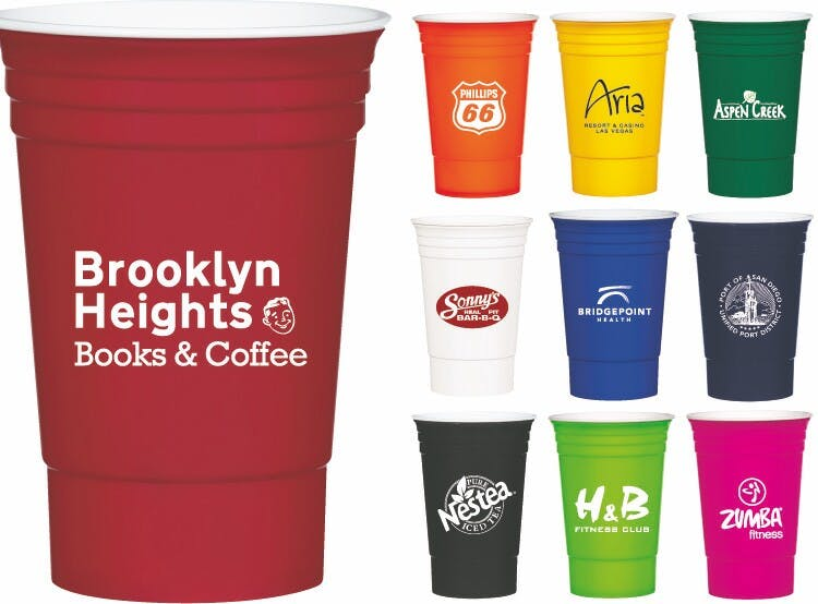 16 Oz. Reusable Party Cup (Item # GGNMN-JKHZQ) Plastic cup sold by InkEasy