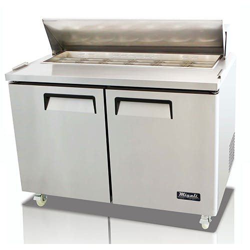 Migali C-SP48-12 Two Door Prep Table Food prep table sold by Pizza Solutions