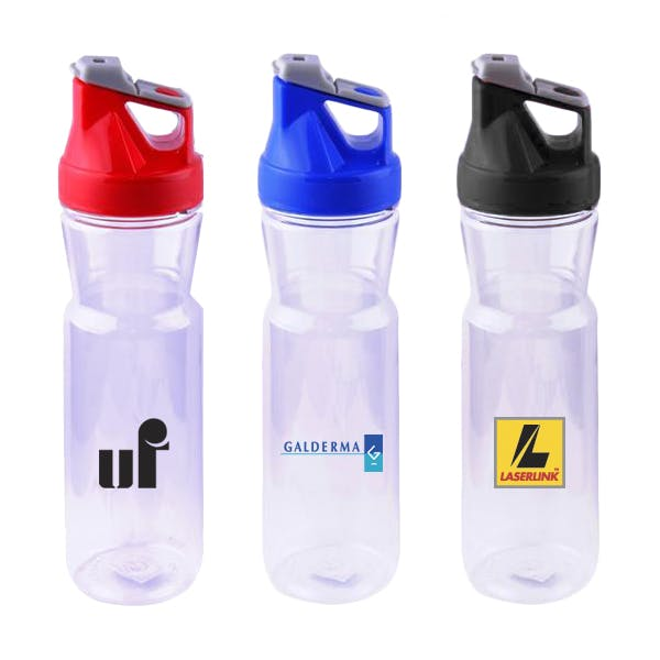24 Oz. Plastic Water Bottle (Item # NHMKT-JVQGQ) Plastic bottle sold by InkEasy