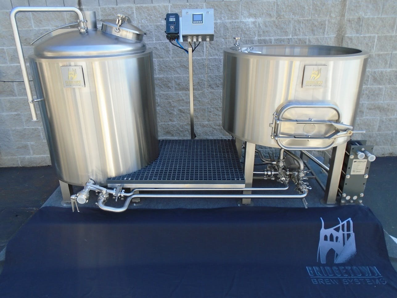 3.5 - 5 BBL Steam heated Brew System Brewhouse sold by Bridgetown Brew Systems llc.