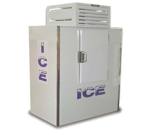 Ice Merchandiser, Fogel, ICB-1. Single solid door, 47 cub ft Ice machine sold by Easy Refrigeration Company