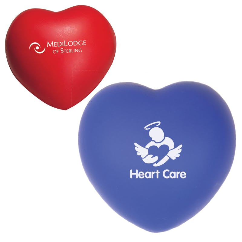 Heart Shaped Stress Reliever (Item # KGKMQ-BGBUR) Stress reliever sold by InkEasy