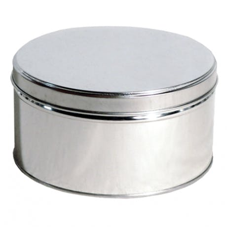 slipcover-tin silver  8 1/2 x 4 3/4  Metal tins sold by Inmark Packaging