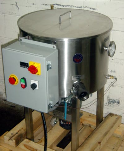 TINSLEY 100-LB S/S CHOCOLATE MELTER Chocolate melting tank sold by Union Standard Equipment Co