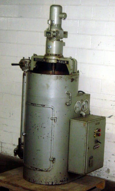 RASCH MODEL TR-2 200 KG/HR TEMPERING UNIT Chocolate temperer sold by Union Standard Equipment Co