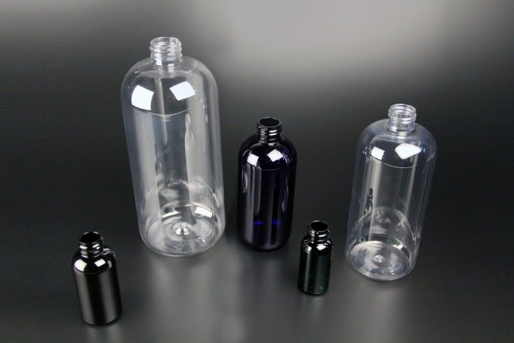 Boston Round Plastic jar sold by APAK Packaging Group