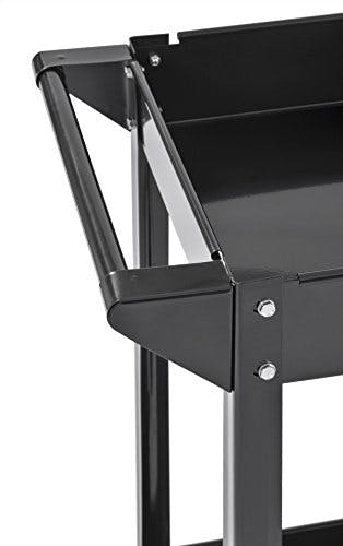"""Muscle Rack SC3016 Industrial Black Commercial Service Cart, Steel, 220Lbs Capacity, 33"""" width x 30.5"""" Height x 16"""" Depth, 2 Shelves, 30.5"""" Height, 33"""" width, 16"""" Length - sold by Meilestone"""