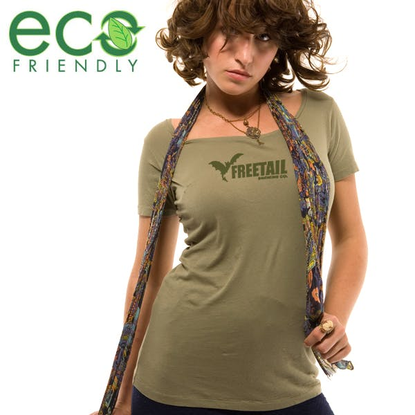 Alternative Women's Organic Scoop Neck Promotional shirt sold by MicrobrewMarketing.com