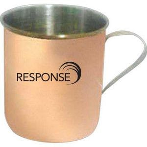 10 Oz. Stainless Steel Moscow Mule Mug with Built In Handle - Copper Coated