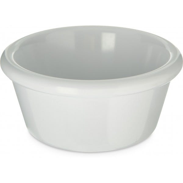 6 oz. White Plastic Smooth Ramekin