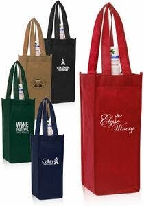 Vineyard One Bottle Wine Bag Wine bag sold by Ink Splash Promos™, LLC