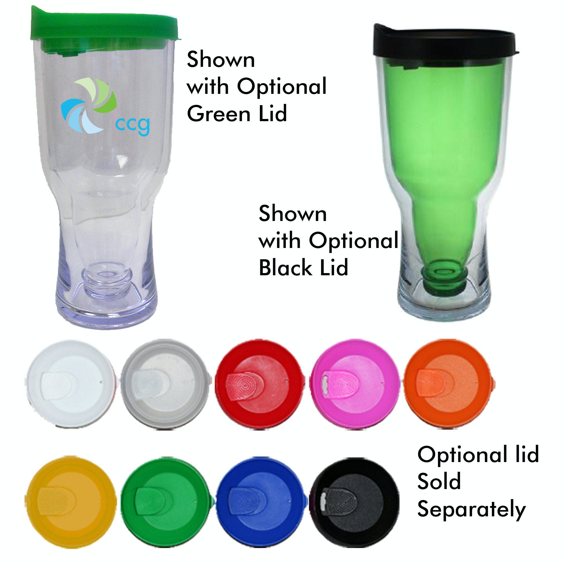 18 Oz. Green Beer Bottle Tumbler (Item # BBJPL-JIWJM) Beer bottle sold by InkEasy