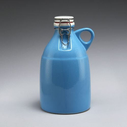 The Grigri - Gloss Blue 64oz Growler sold by Portland Growler Company