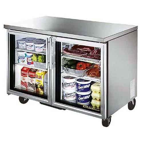 "True - TUC-48G-LP 49"" Low Profile Glass Door Undercounter Refrigerator Commercial refrigerator sold by Food Service Warehouse"