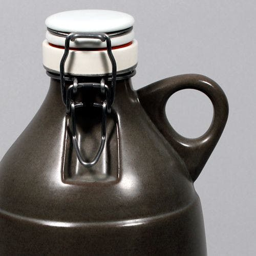The Grigri - Satin Grey 64oz Growler sold by Portland Growler Company