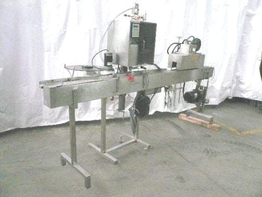 Marburg model:M5 stainless steel neck bander Sleeve applicator sold by Union Standard Equipment Co