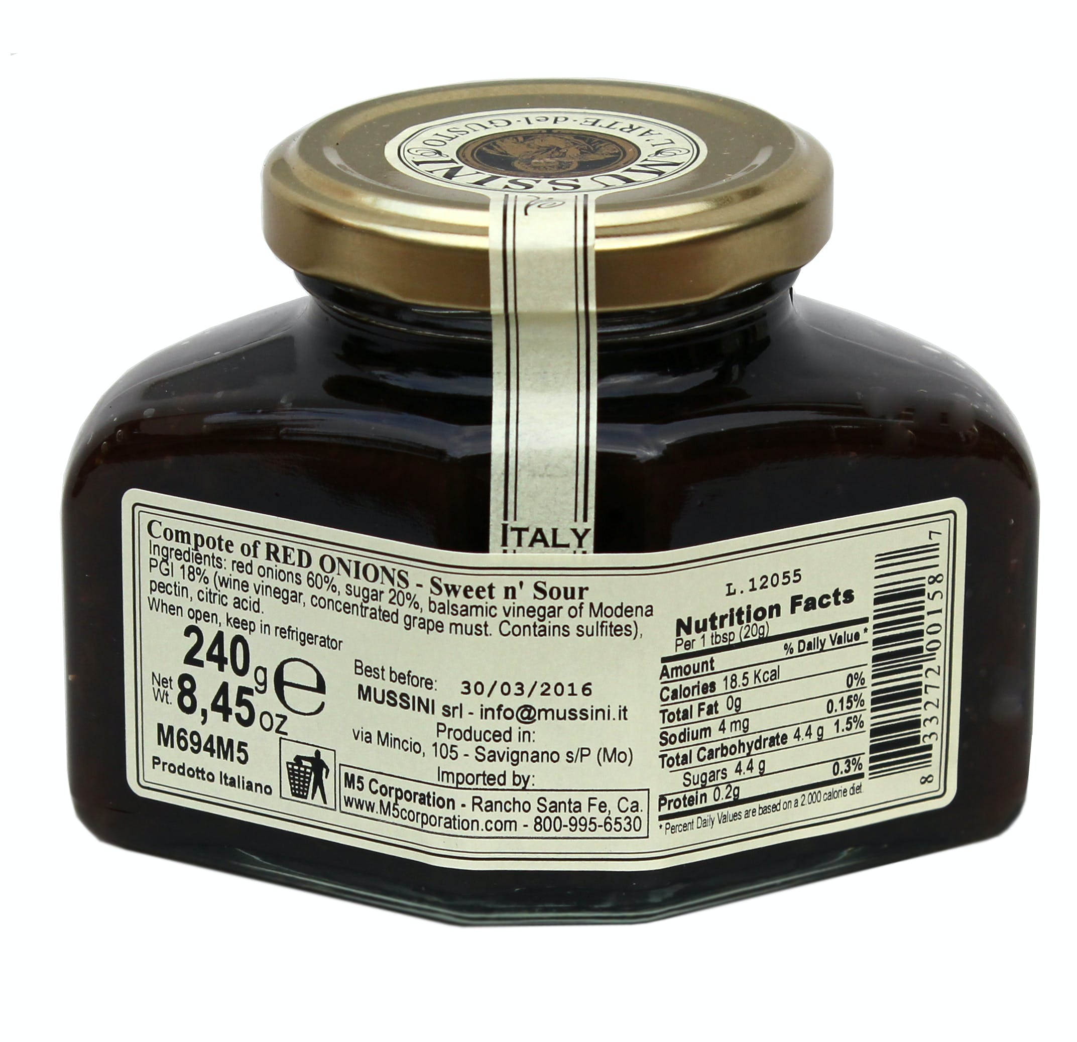 Red Onions and Balsamic Vinegar Compote - sold by M5 Corporation