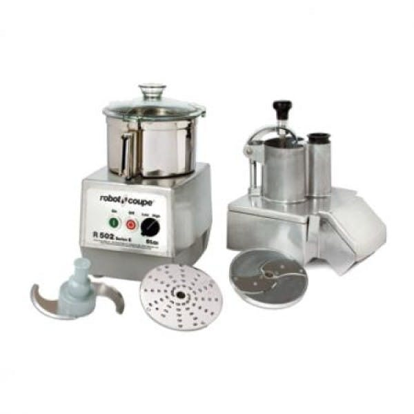 5.5 qt. Continuous Feed Combination Food Processor w/ Stainless Bowl